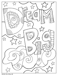 These lovely colouring pages all feature a favourite quote or well known saying, drawn out in letters and decorative patterns. Educational Quotes Coloring Pages Classroom Doodles