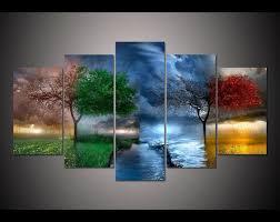 $22 - Cool Free shipping <b>5</b> panel <b>large HD printed</b> painting Fantasy ...