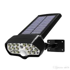 2019 New <b>Shark LED Solar Light</b> PIR Motion Sensor Solar Lamp ...