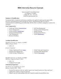 Mba On Resume Resume Work Template