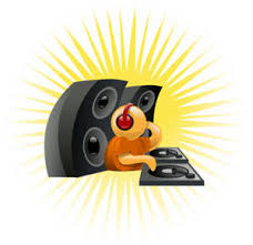 sound system clipart. free clipart picture of a dj working his sound system
