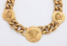 versace 3 medusa gold chain necklace at 1stdibs versace