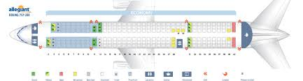 Boeing 737 200 Seating Chart Seat Map Boeing 757 200 Allegiant Air Best Seats In The Plane