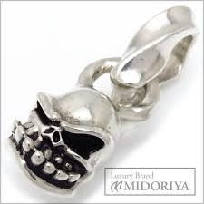 auth starlingear men s sterling silver 925 micro skull pendant 097117 free ship