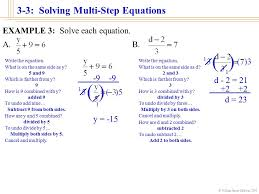 william james calhoun 2001 3 3 solving multi step equations objectives