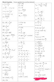 for my physics equation sheet so i m just gonna put it up here i recommend running through it with practice problems to ingrain it in your memory