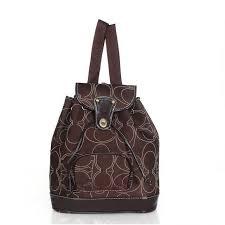 Coach Classic In Signature Medium Coffee Backpacks ADA