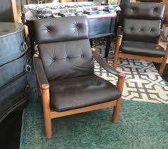 Vintage high back chair Leather Vintage Highback Chair Pair Big Daddys Antiques Vintage Highback Chair Pair Bd Antiques
