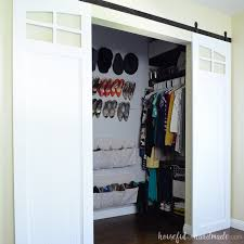 Closet doors Shaker These Inexpensive Diy Sliding Barn Doors Are Perfect For Adding Style To Your Bedroom Update Houseful Of Handmade Closet Sliding Barn Doors Build Plans Houseful Of Handmade