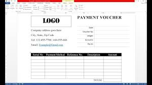 How To Design A Voucher In Word How To Make Payment Voucher On Ms Word