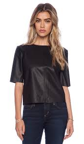 pia faux leather top