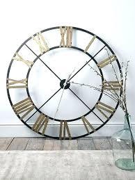 extra large roman numeral wall clock skeleton frame oversized 88cm black ext
