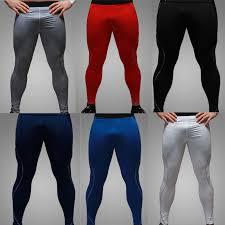 Men High Stretch Tight Pants Men Gym Long Pants Low Waist