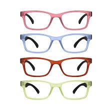 TIJN 4 Packs <b>TR90</b> Flexible Reading <b>Glasses</b> for Women and Men ...