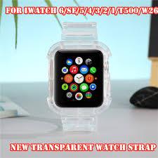 Dây Đeo Silicon Trong Suốt Cho Đồng Hồ Thông Minh Apple Watch Band Series 6  Se 5 4 3 2 1 42mm 44mm 40mm 38mm T500 W34 W26 Ft50 giảm chỉ còn 165,600 đ