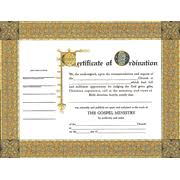 blank ordination certificates ministers ordination certificates package of 6 9780805472691
