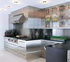 Stainless Steel Kitchen Cabinets With Glass Doors Kitchen Cabinet