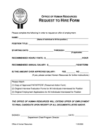 Request To Hire Form - Kleo.beachfix.co