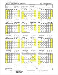 Work Schedule Calendar Template 13 Employee Calendar Templates Free Samples Examples