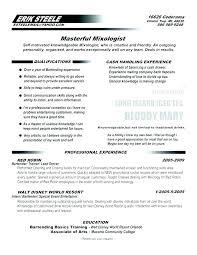 Bartending Resume Examples Impressive Bartenders Resume Example Example Bartender Resume Bartender Resume