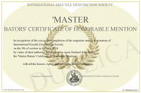 Honorable Mention Certificate Master Bators Certificate Of Honorable Mention
