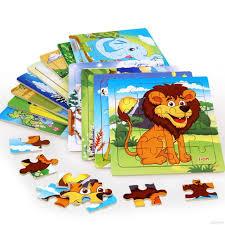 Kids <b>Baby</b> Cartoon Animal Jigsaw Puzzle Learning Educational Toy ...