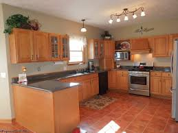 Terra Cotta Floor Tile Kitchen Traditional Kitchen With Inset Cabinets Terracotta Tile Floors