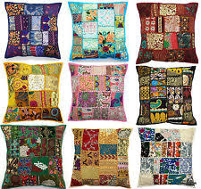 indian antique french cushions. Indian Handmade Home Decor Floor Pillow Vintage Patchwork Cushion Cover 40x40cms Antique French Cushions