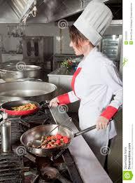 Chef Kitchen Female Chef In Kitchen Stock Photo Image 25735200