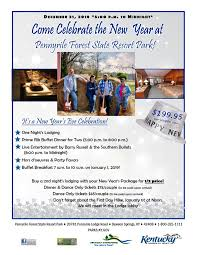 Celebrate the New Year at Pennyrile Forest State Resort Park