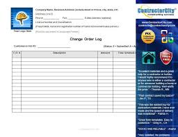 Construction Change Order Form Inspiration Constructioncompanycontracttemplate Construction Contract