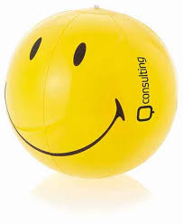 smiley beach ball