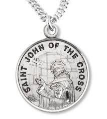 st john of the cross medal sterling silver