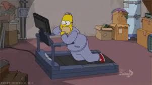 Kuvahaun tulos haulle homer simpson workout