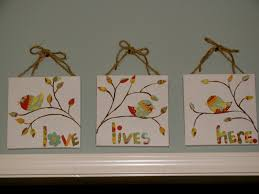 bright hope diy love lives here canvas