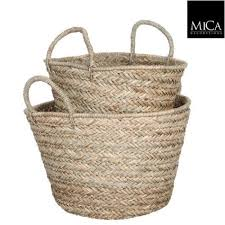 Large wicker basket Giant Rattan Basket Round Ø 45 Cm Livv Lifestyle Large Wicker Basket With Handle Wicker Basket Round Livv Lifestyle