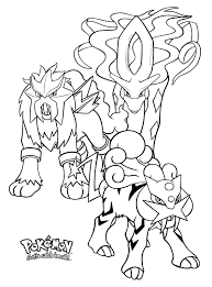 Small Picture Legendary pokemon coloring pages entei raikou suicune ColoringStar