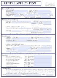 Free Rental Form Free Lease Application Form Rome Fontanacountryinn Com