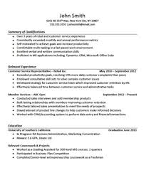Customer Service Experience Examples For Resume Example Of A Job Resume With No Experience gentileforda 7