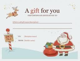 Printable Christmas Certificates Printable Christmas Gift Certificate Awesome Gift Certificate