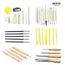 <b>40pcs Professional Clay</b> Pottery Sculpting Tools set Wax Pottery ...