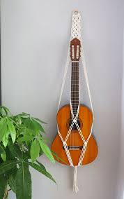 macrame acoustic guitar stand wall