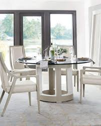 bernhardt axiom round glass top dining table 60