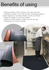 Kitchen Gel Floor Mats Kitchen Shock Absorber Rubber Fire Resistant Gel Foam Floor Mat