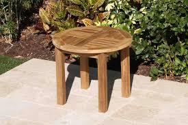teak 60cm round coffee table oceanic