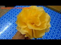 Made Flower With Paper How To Make A Tissue Paper Flower Very Easily Napkin Flower Making Tutorial