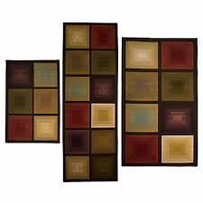 3 piece area runner squares rug set antique vintage carpet modern home décor