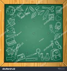 School Chalkboard Background Vector School Chalkboard Background Place Text Stock Vector Royalty