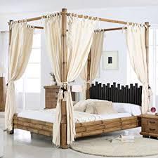 Cabana Canopy Bed Bamboo Bed 180 x 200 Honigantik Natural: Amazon.co ...