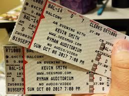 Ryman Seating Chart Balcony Anyone Need Tickets To Kevin Smiths Ryman Show On Sunday